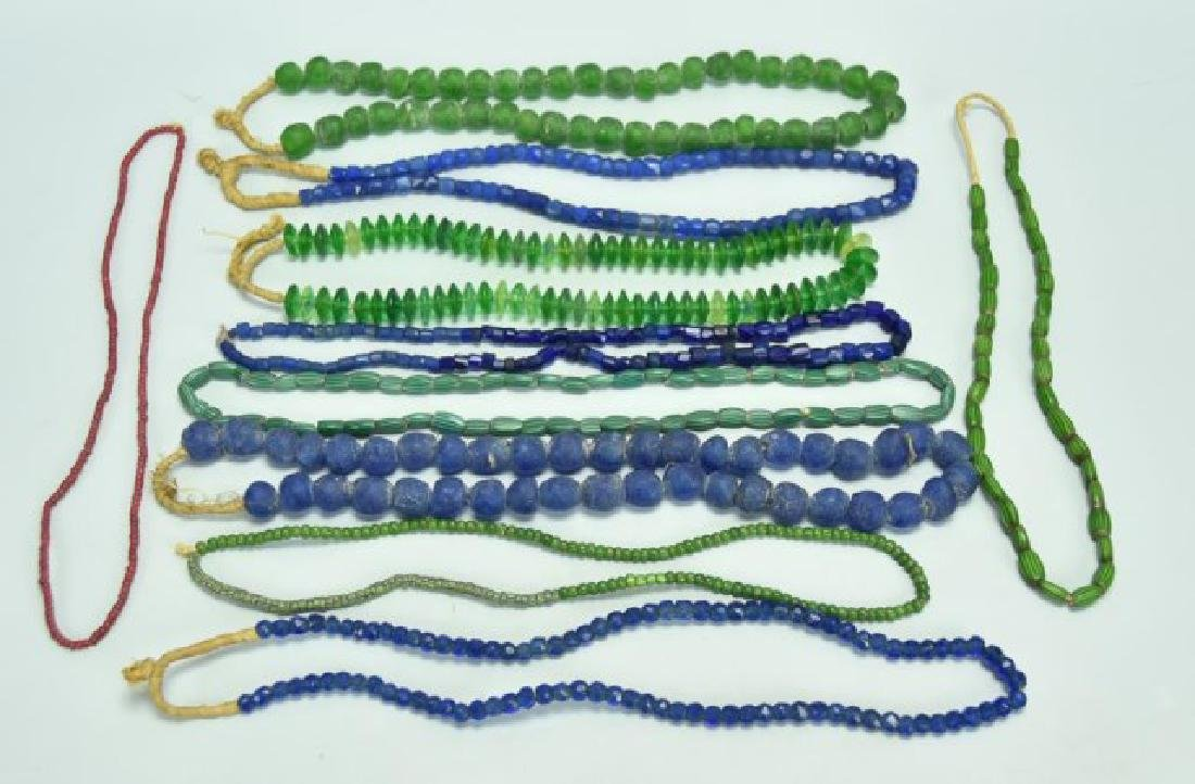 Lot of 10 African Trade Bead Necklaces