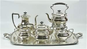 Lord Robert Sterling Tea Set w/ Tray, Water Kettle