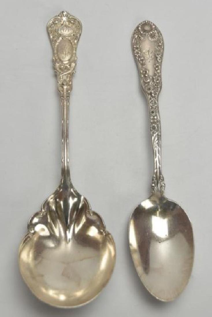 Lot of 19th C. Am. Sterling Silver, Repousse, Etc - 4