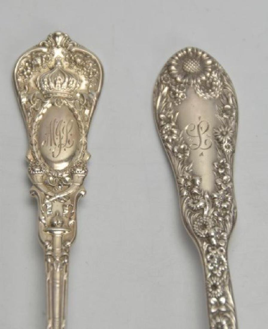 Lot of 19th C. Am. Sterling Silver, Repousse, Etc - 5