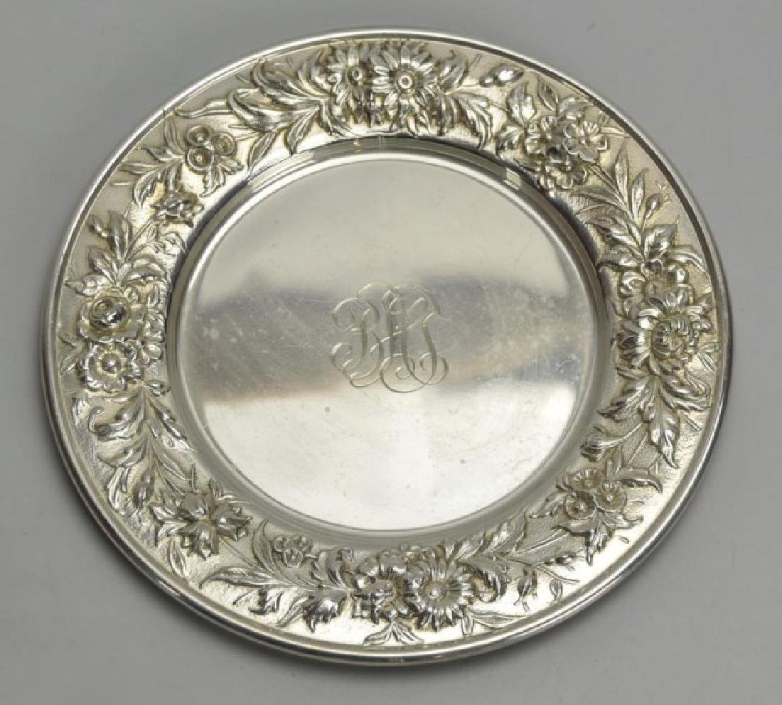 6 S. Kirk & Son Sterling Repousse Bread Plates - 2