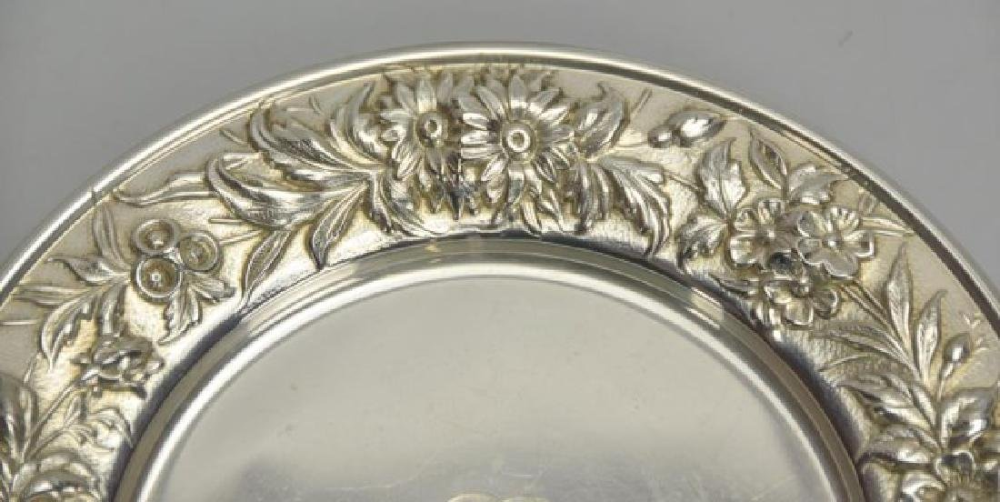 6 S. Kirk & Son Sterling Repousse Bread Plates - 3