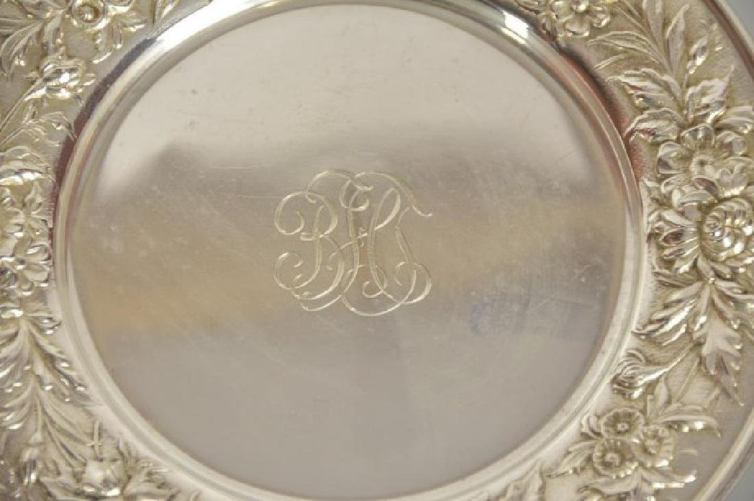 6 S. Kirk & Son Sterling Repousse Bread Plates - 4
