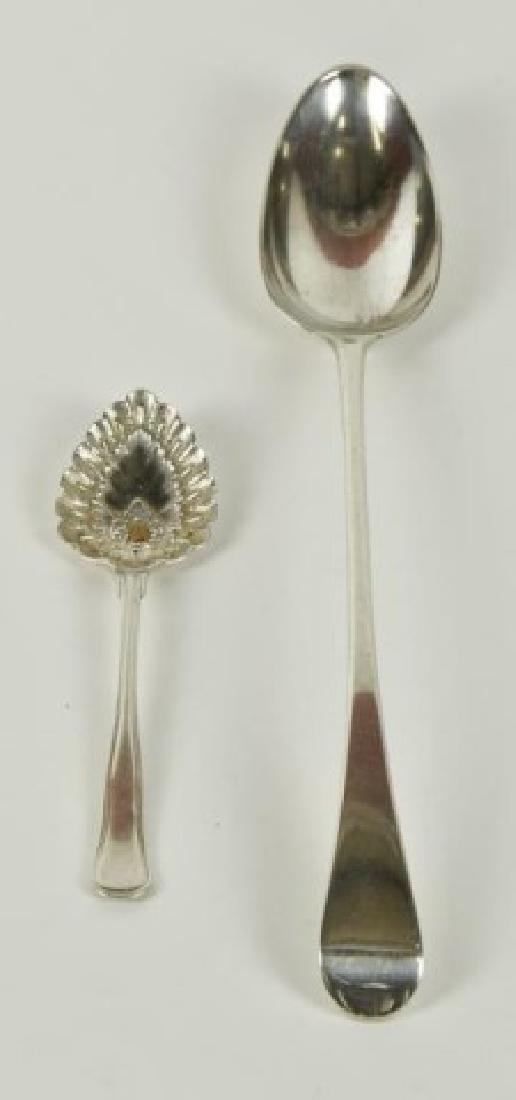2 Pieces of English Sterling, One Georgian