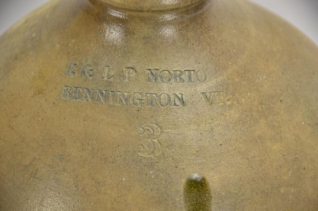 E & L P Norton, Bennington, VT, Stoneware Jug - 3