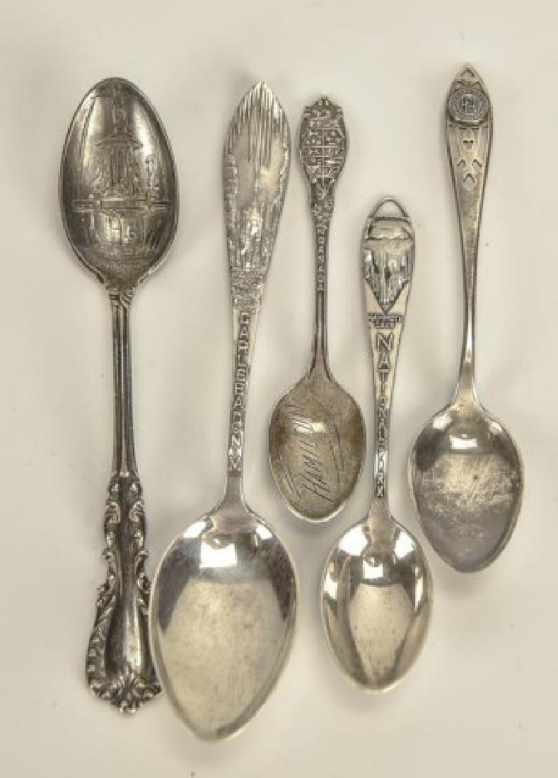 26 Silver Souvenir Spoons - 2