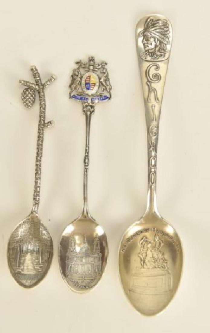 26 Silver Souvenir Spoons - 4