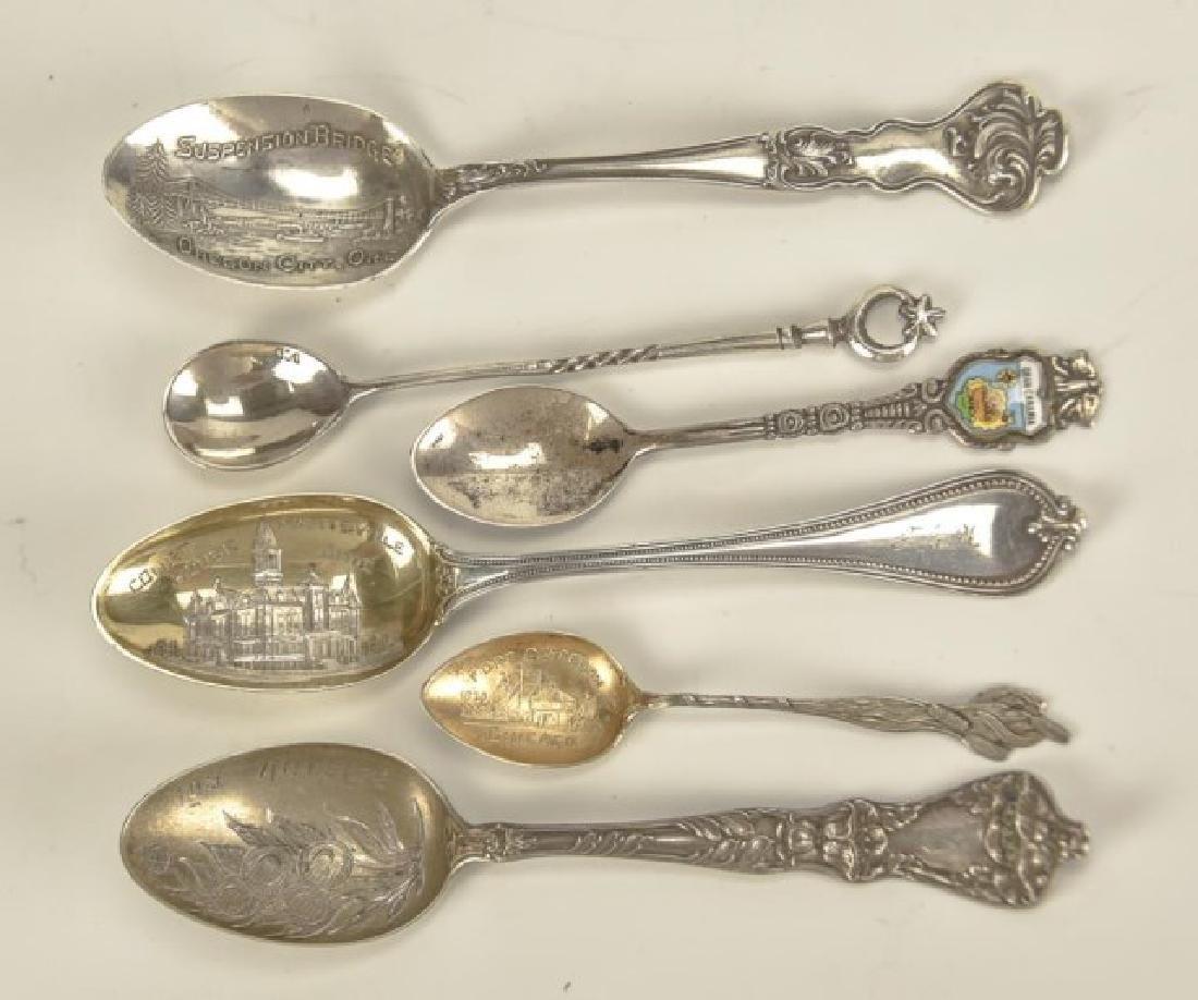 26 Silver Souvenir Spoons - 6