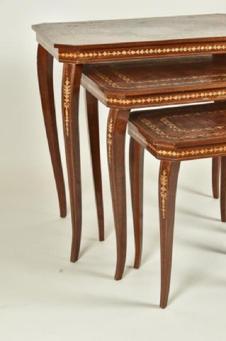 Set of Three Italian Inlaid Nesting Tables - 4