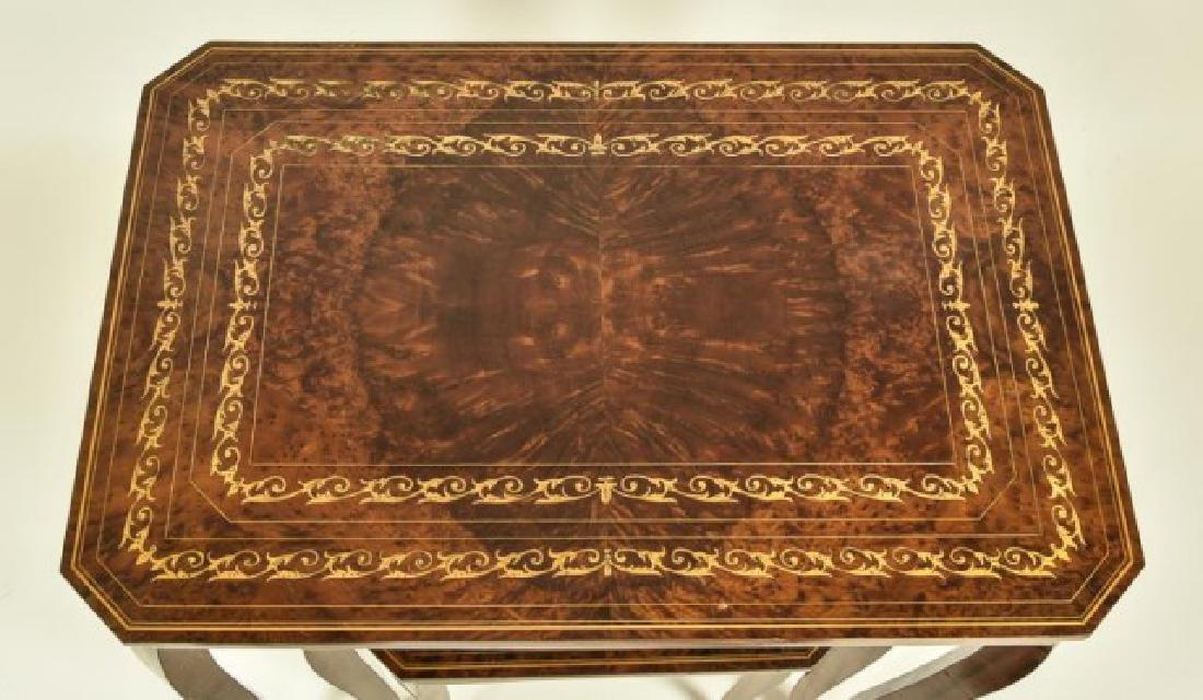 Set of Three Italian Inlaid Nesting Tables - 5