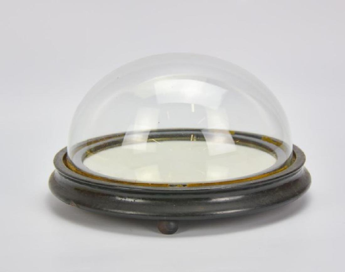 Antique Glass Display Dome w/ Mirror Base - 2