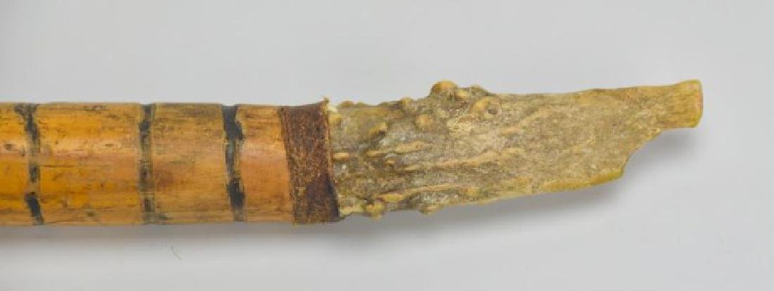Tennessee Folk Art Cane w/ Antler Handle & Knife - 2