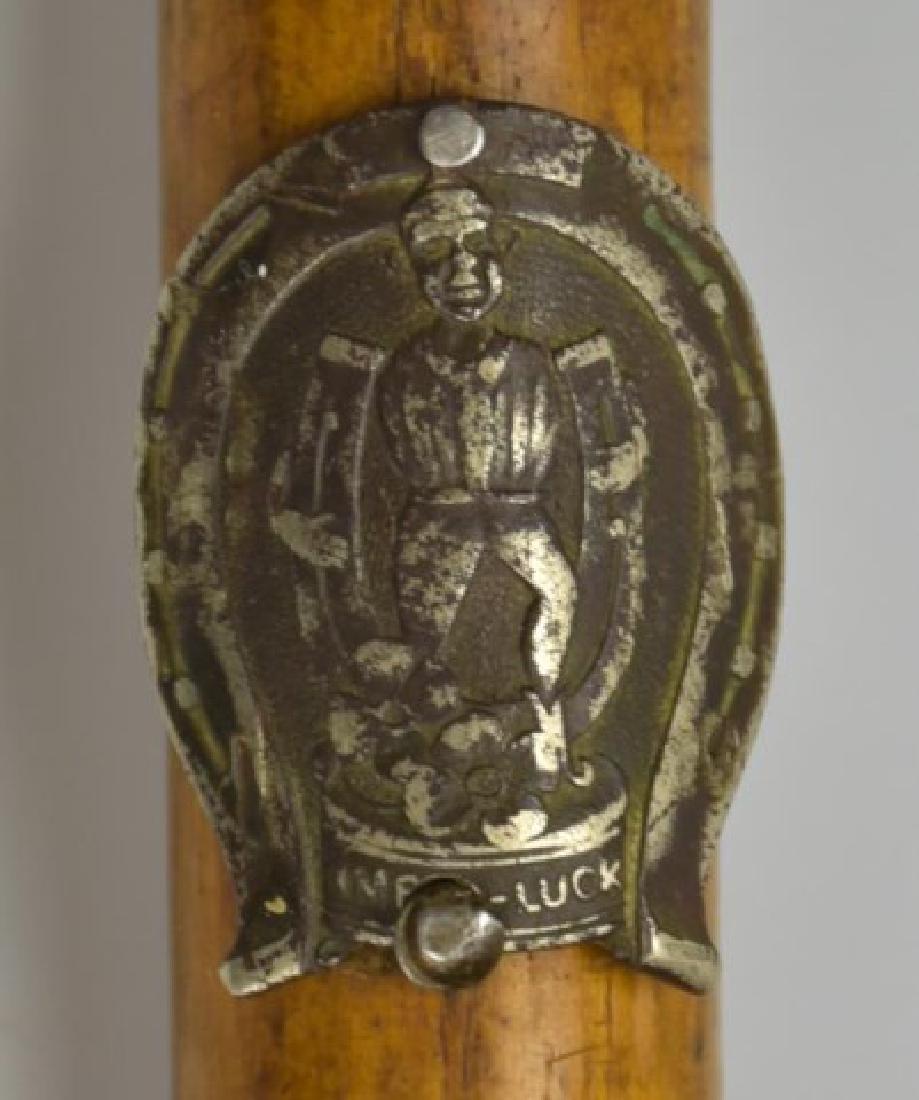 Tennessee Folk Art Cane w/ Antler Handle & Knife - 5