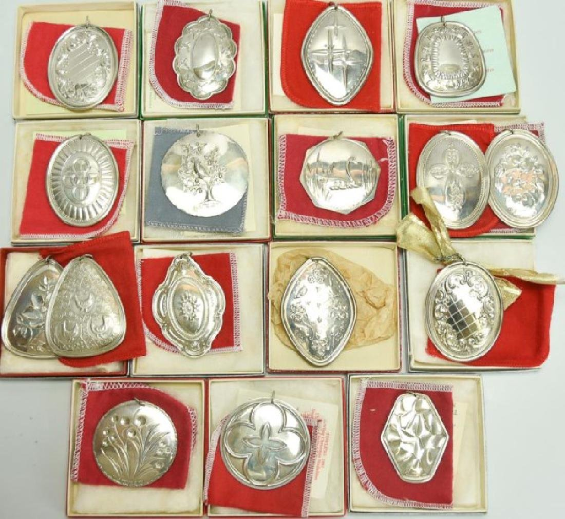 17 Towle Sterling Christmas Ornaments