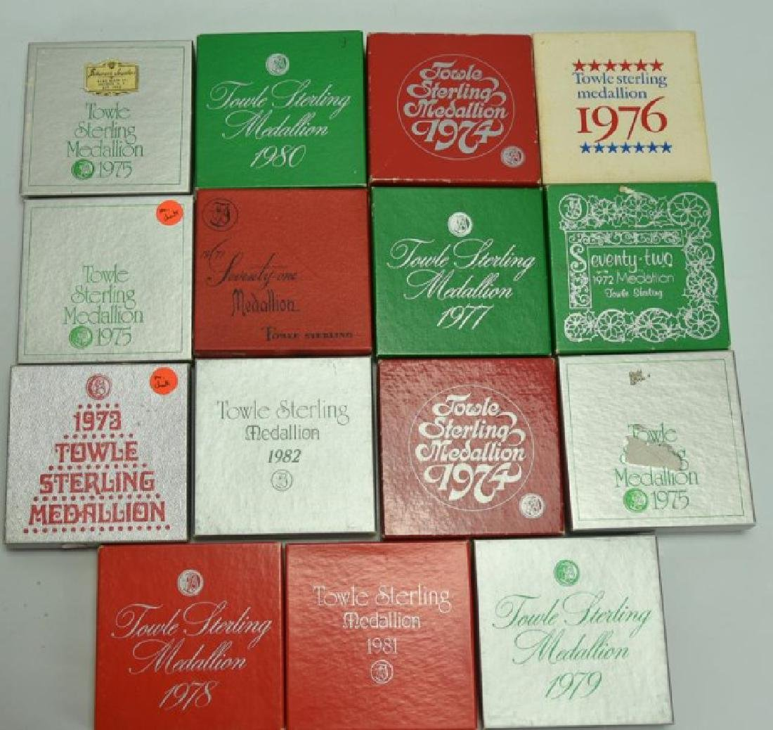 17 Towle Sterling Christmas Ornaments - 2