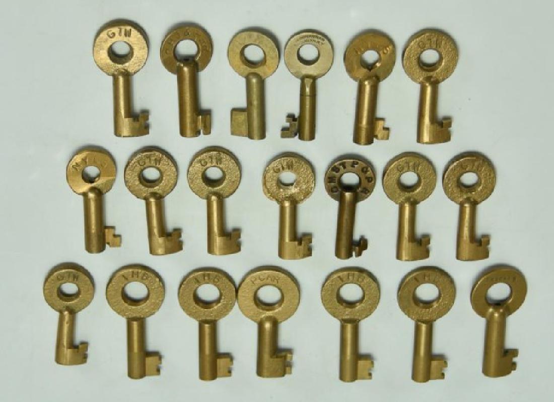 20 Railroad Brass Switch Keys