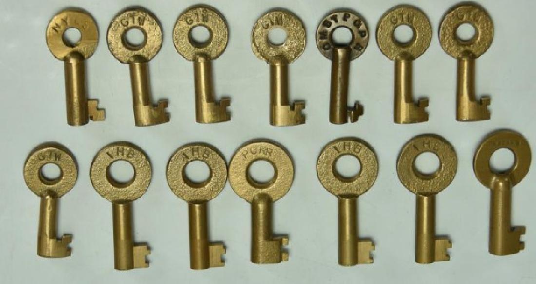 20 Railroad Brass Switch Keys - 2