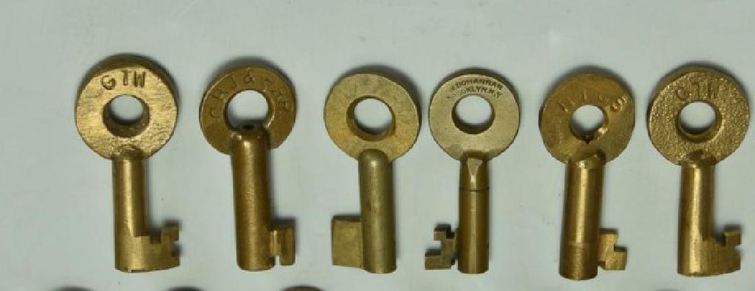20 Railroad Brass Switch Keys - 3