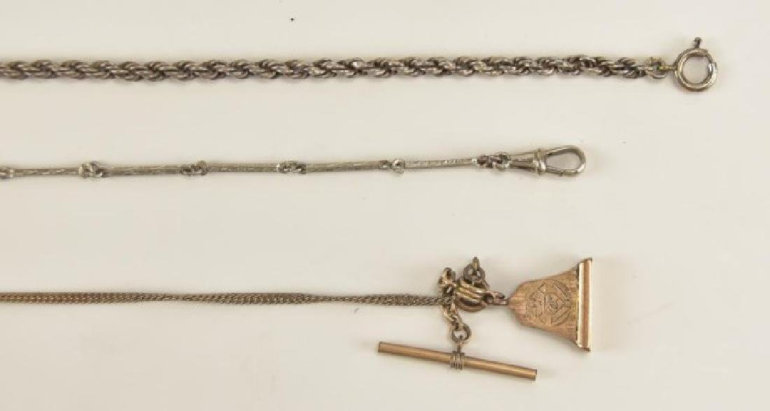 Assorted Pocket Watch Chains and Fobs - 4