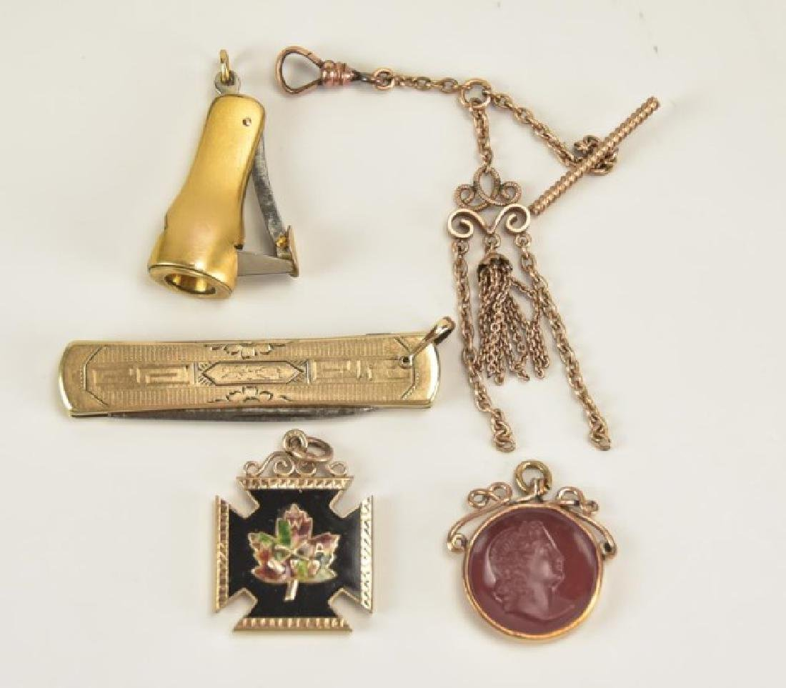 Assorted Pocket Watch Chains and Fobs - 7