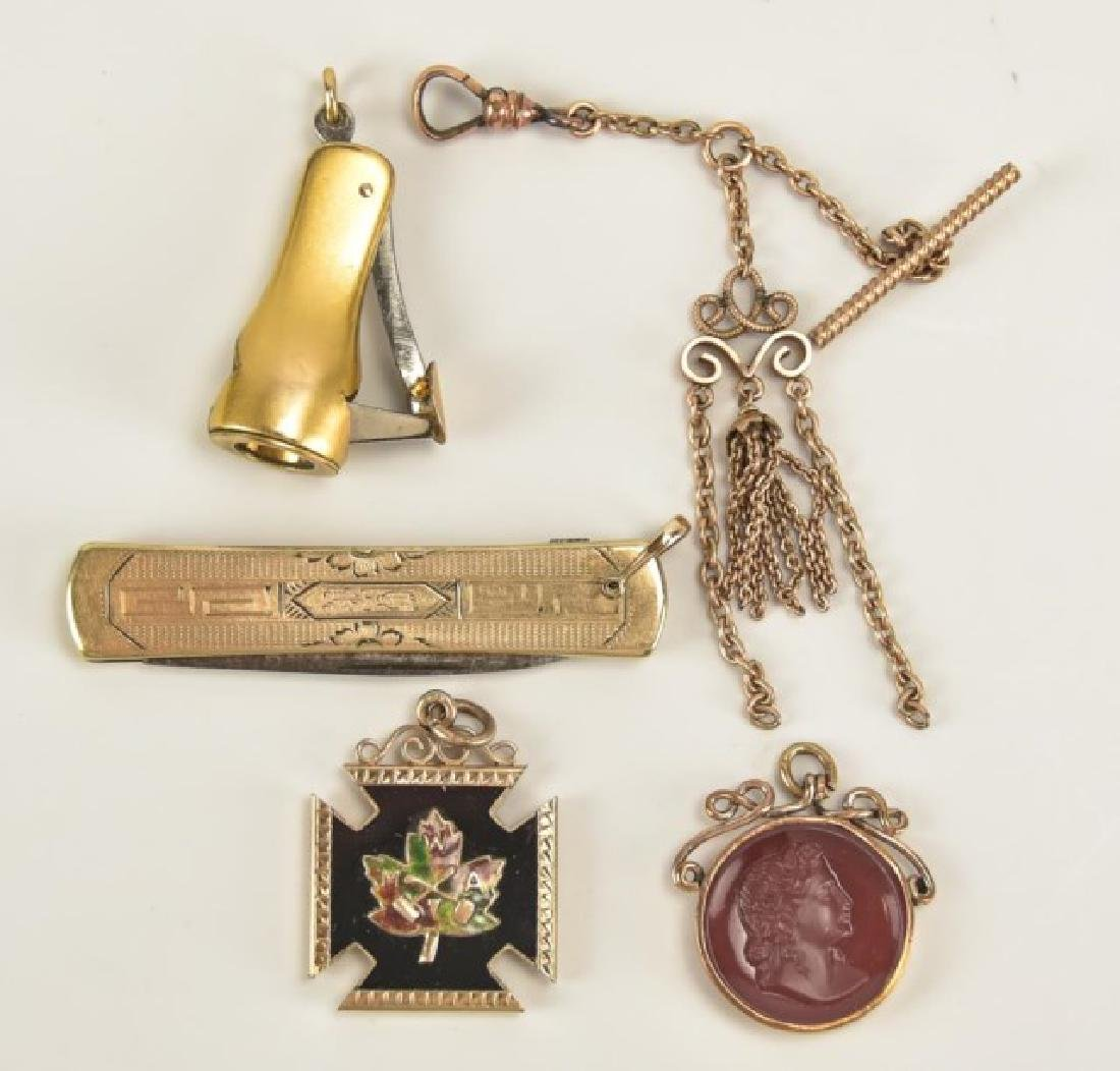 Assorted Pocket Watch Chains and Fobs - 9