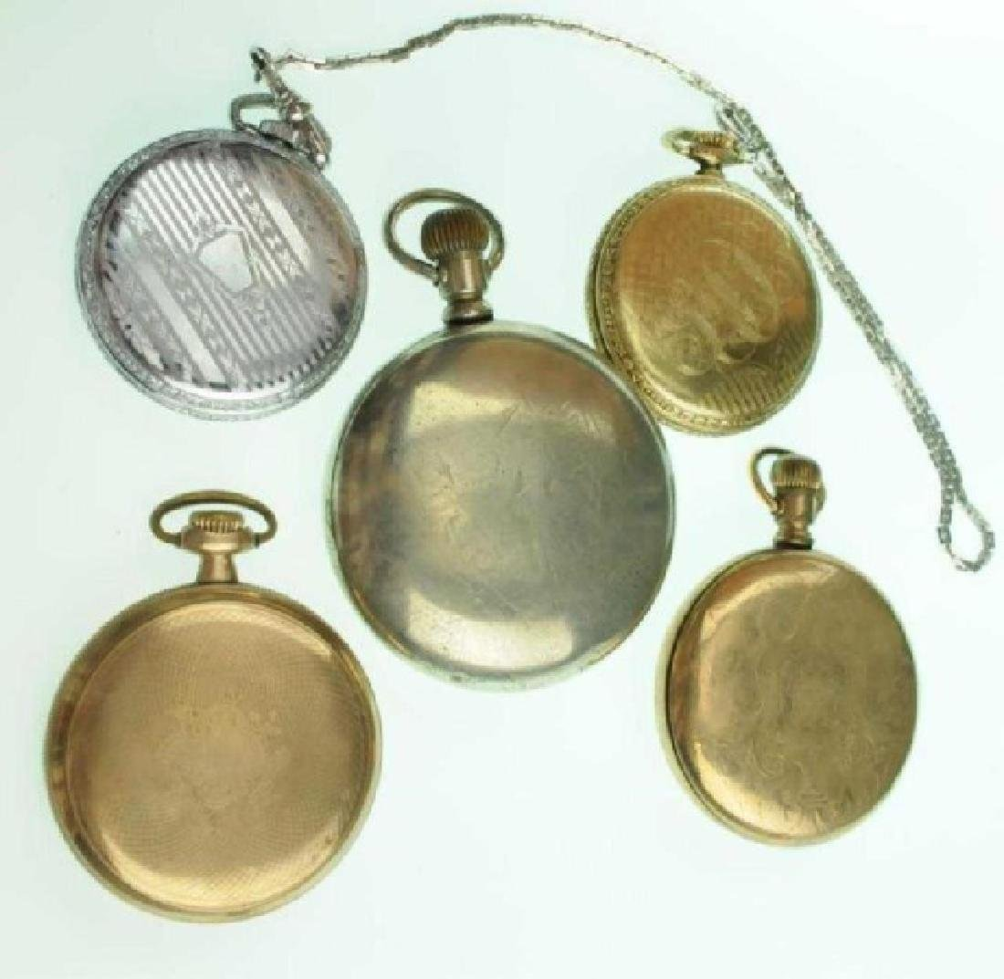 Five Elgin Open Face Pocket Watches - 2