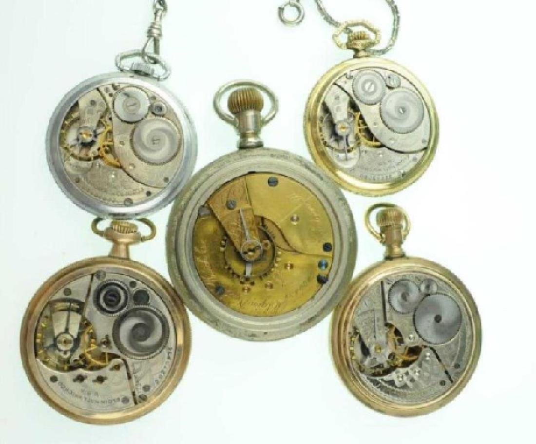 Five Elgin Open Face Pocket Watches - 3