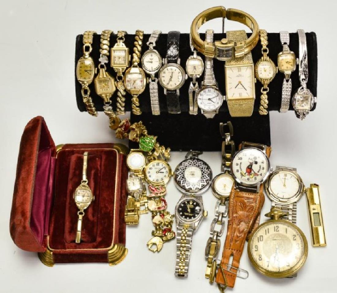 Elgin Pocket Watch & 23 Other Watches