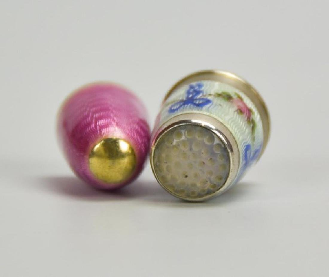 Sterling and Guilloche Perfume Capsule, Thimble - 10