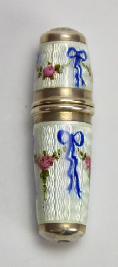 Sterling and Guilloche Perfume Capsule, Thimble
