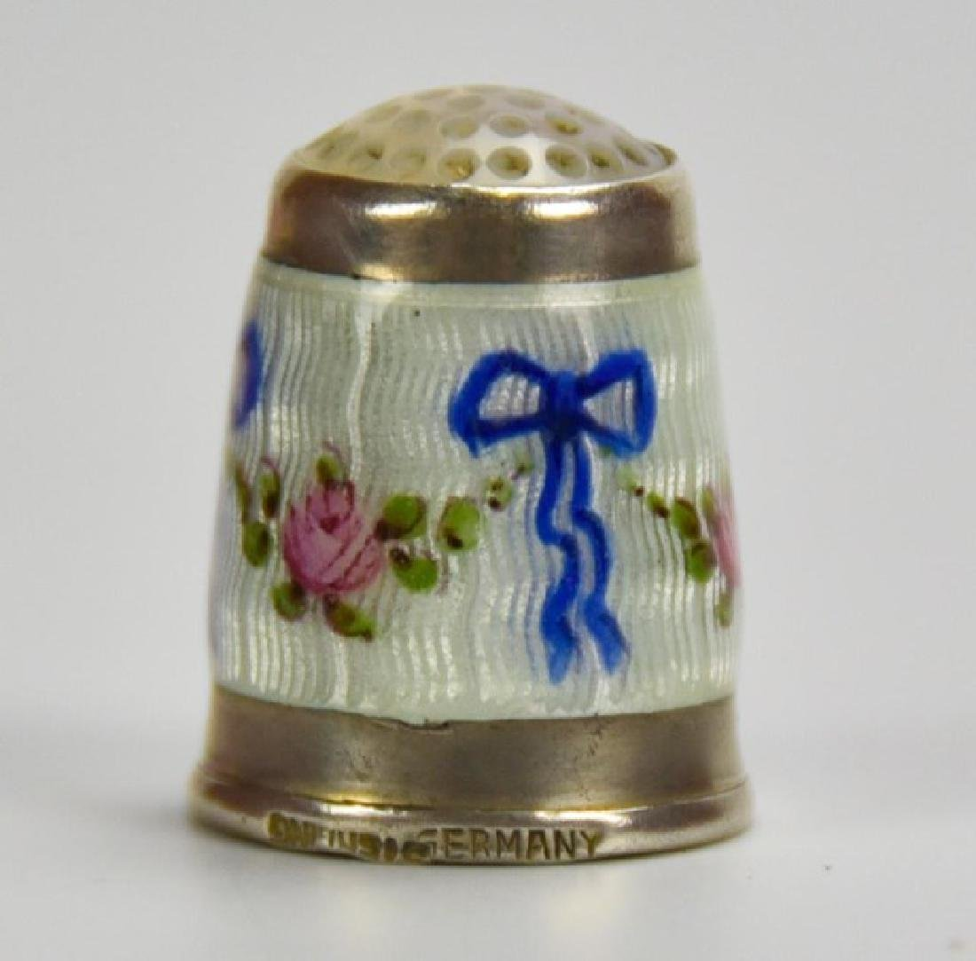 Sterling and Guilloche Perfume Capsule, Thimble - 2