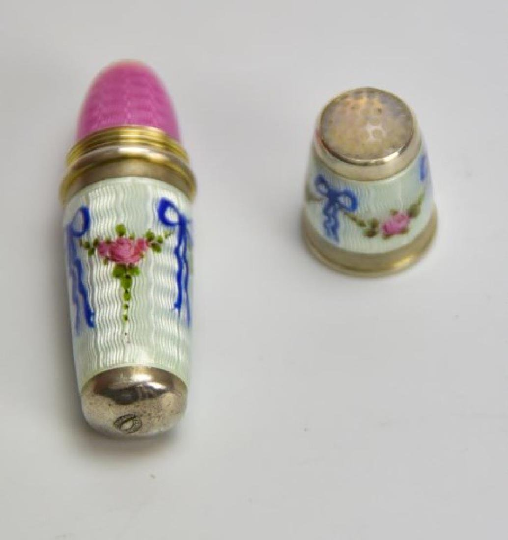 Sterling and Guilloche Perfume Capsule, Thimble - 4