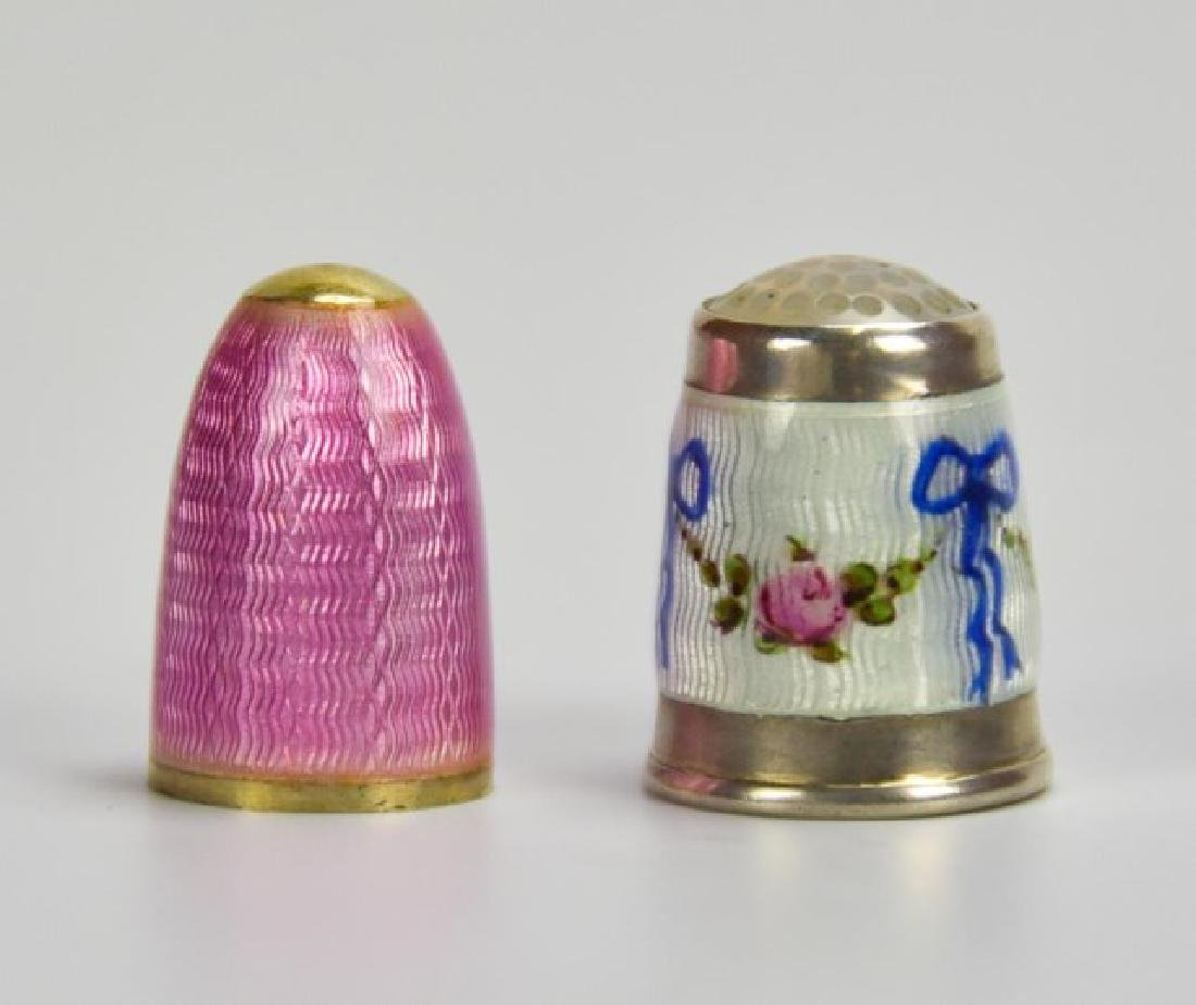 Sterling and Guilloche Perfume Capsule, Thimble - 9