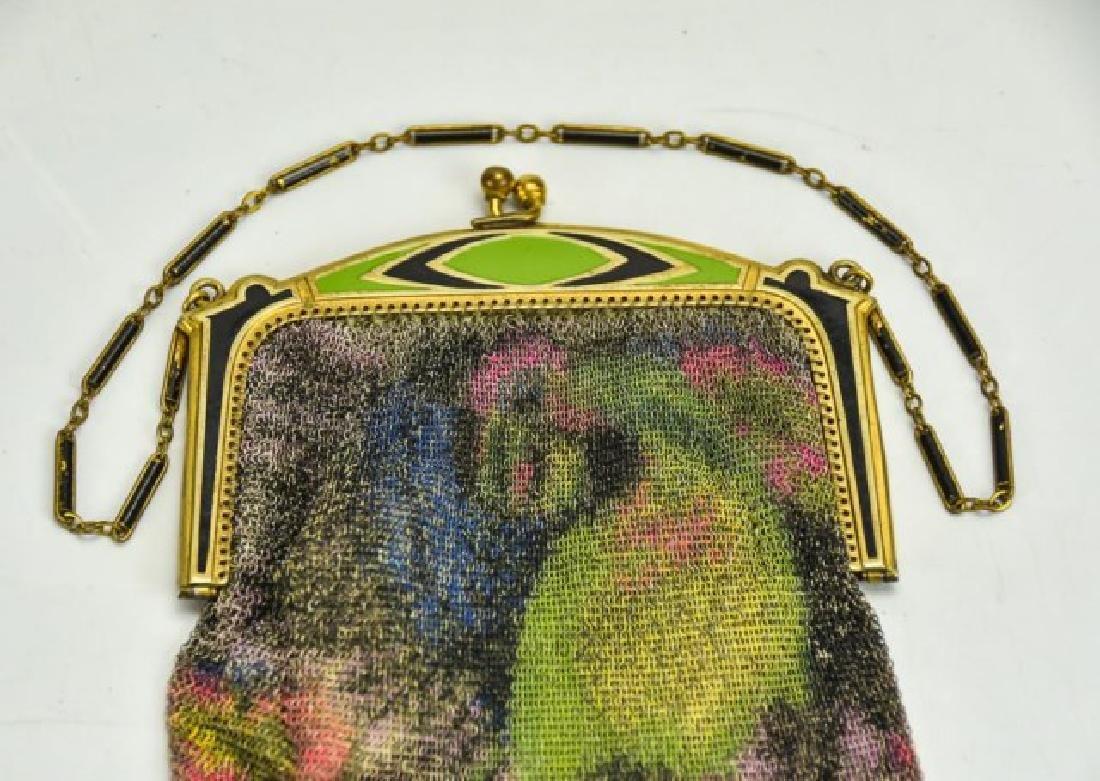 Vibrant Art Deco Evening Bag w/ Parrot, W&D - 2