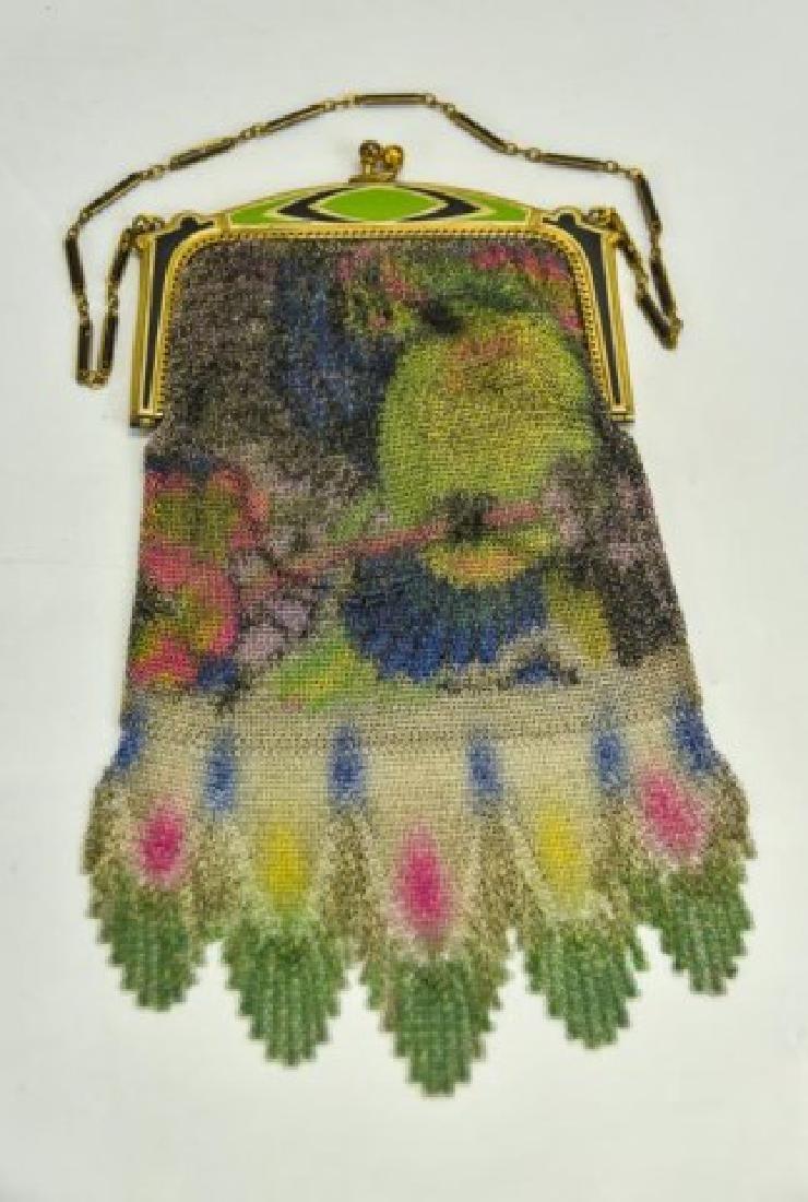 Vibrant Art Deco Evening Bag w/ Parrot, W&D - 5