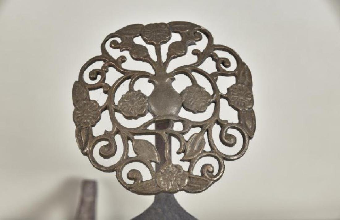Pr. of Aesthetic Brass and Cast Iron Andirons - 2
