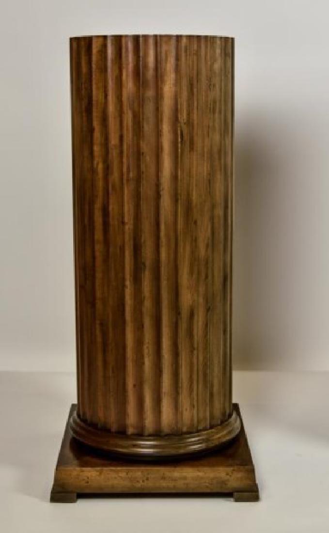 Pr. Baker Furniture Burled Walnut Pedestals - 10