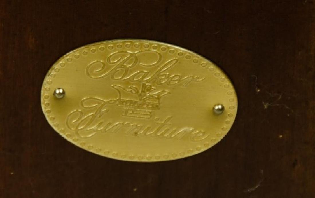 Pr. Baker Furniture Burled Walnut Pedestals - 2