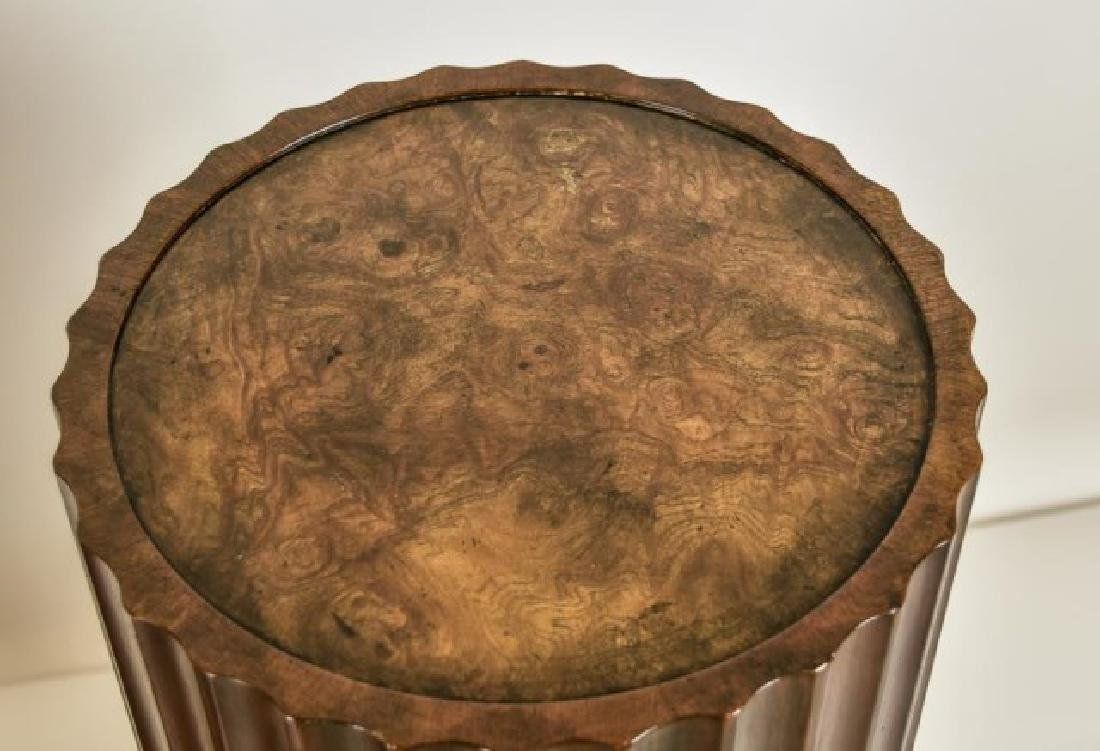 Pr. Baker Furniture Burled Walnut Pedestals - 4