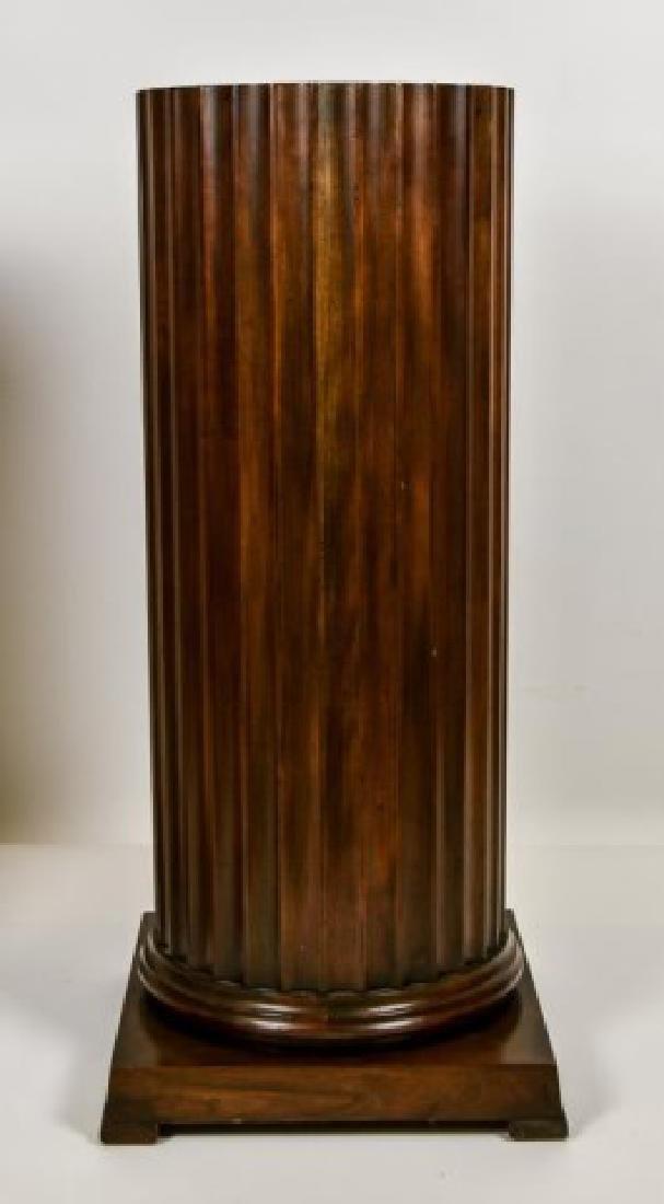 Pr. Baker Furniture Burled Walnut Pedestals - 6