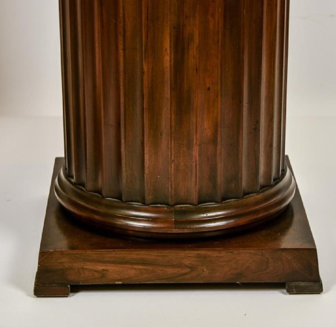 Pr. Baker Furniture Burled Walnut Pedestals - 7