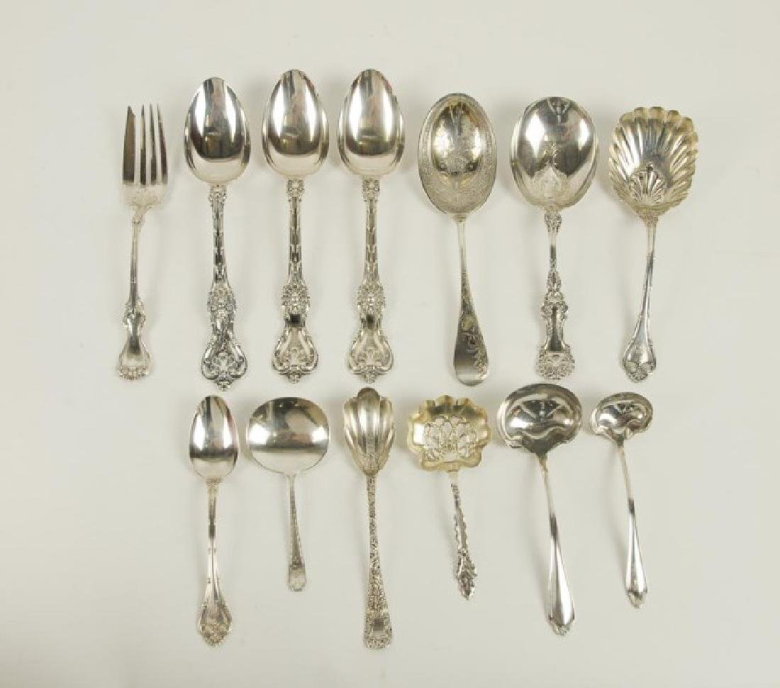 14 Whiting Mfg. Co. Sterling Serving Pieces