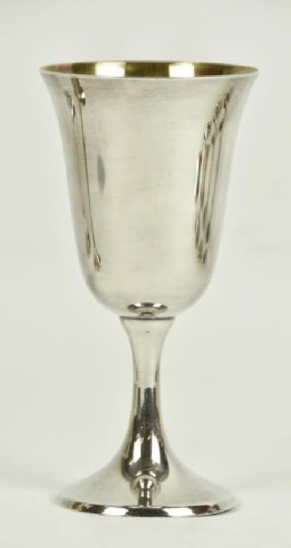 Set of Ten Sterling Silver Goblets - 2