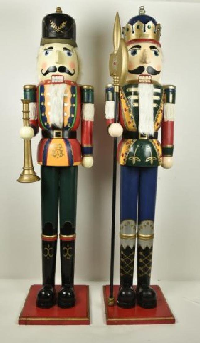 Two 5' Tall Operable Nutcrackers