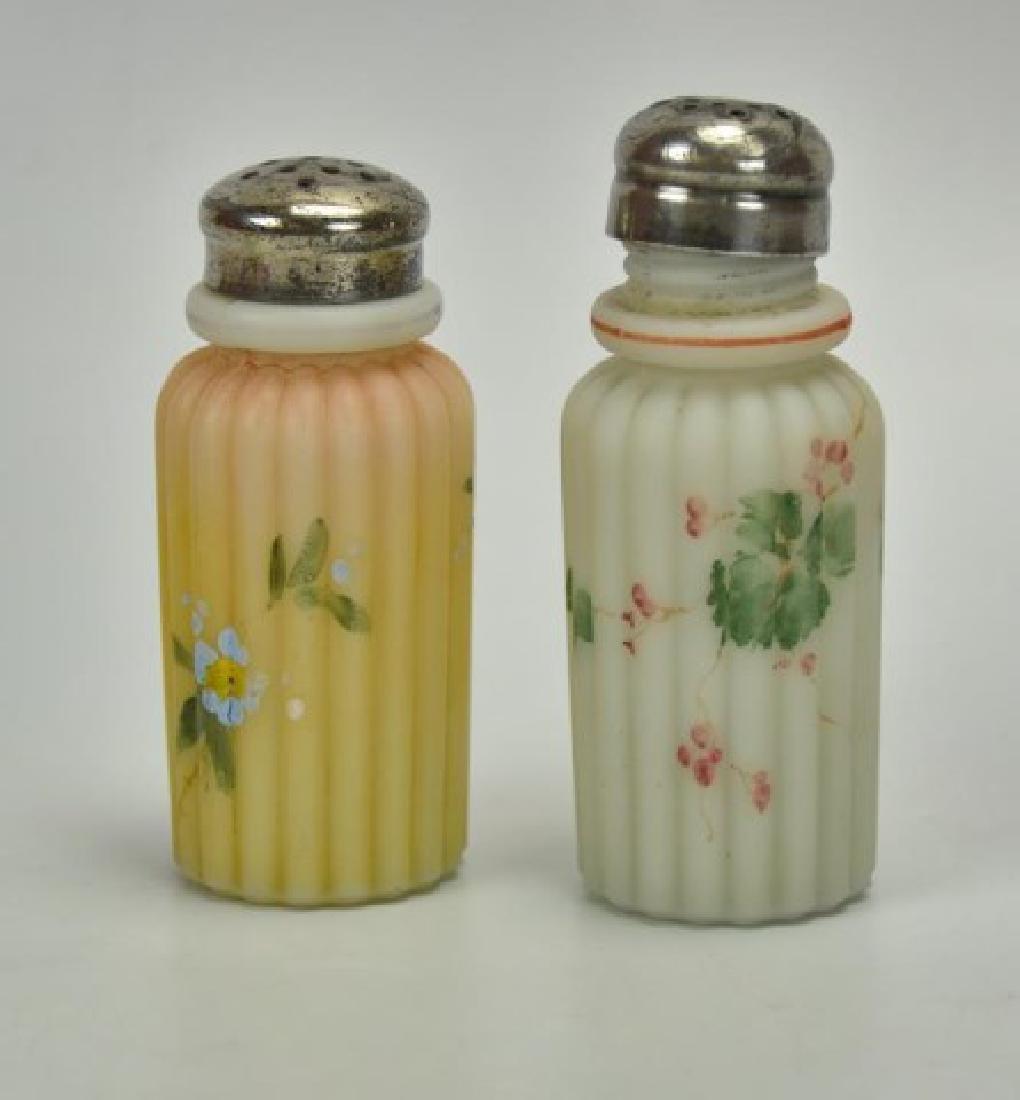 Lot of Mt. Washington Glass Salt & Pepper Shakers - 2
