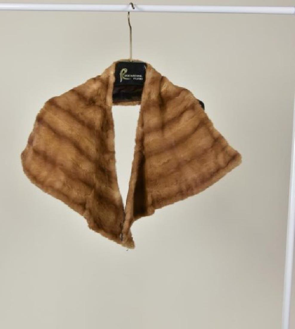 Adjustable Mink Stole & Mink Collar - 2