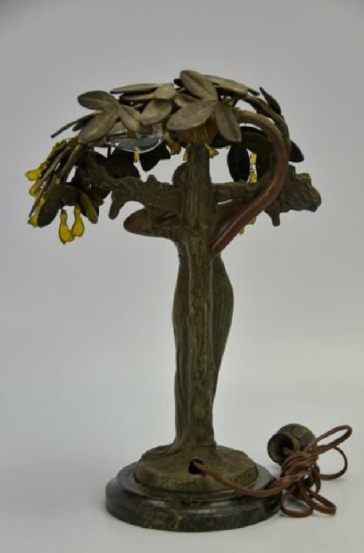 Art Nouveau Figural Lamp - 3