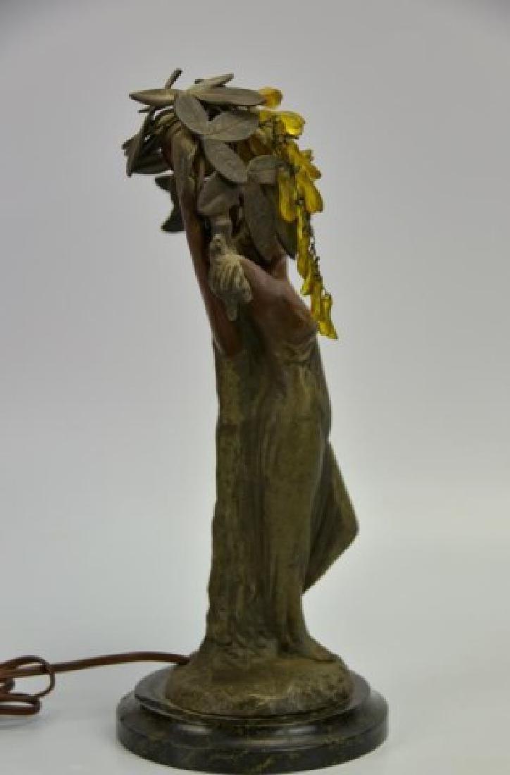 Art Nouveau Figural Lamp - 4