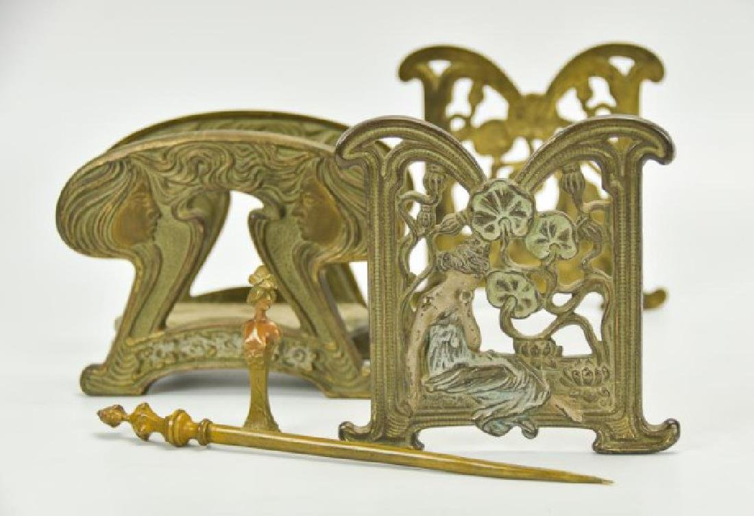 Art Nouveau Desk Accessories--Wax Seal, Etc.