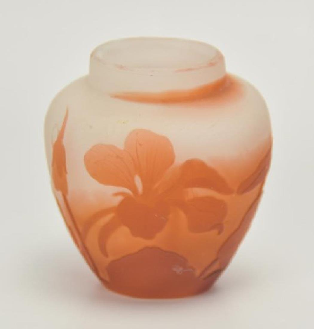 Galle Cameo Glass Miniature Vase